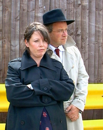Olivia Colman and Harry Enfield in Dirk Gently's Holistic Detective Agency
