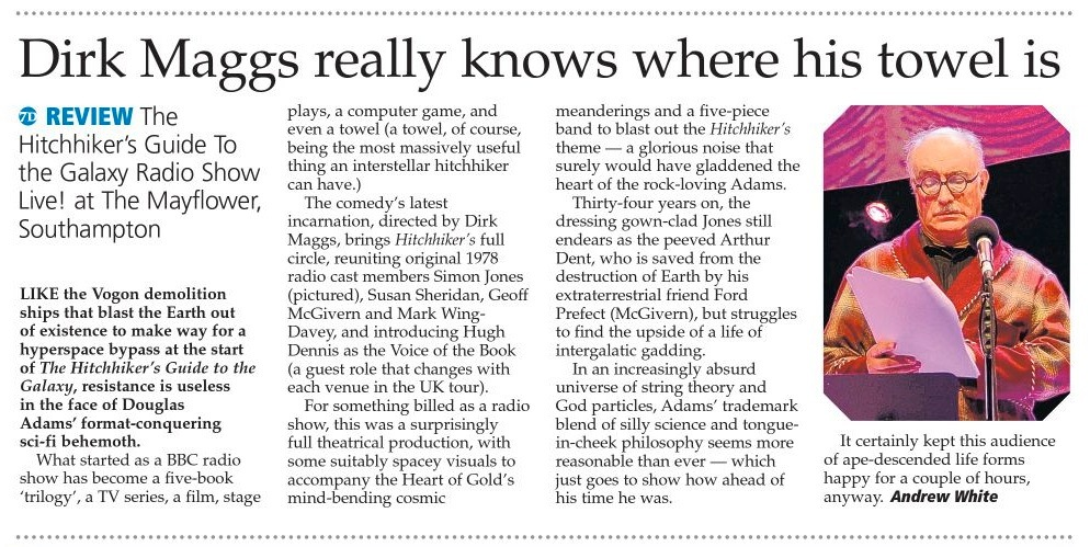 Hampshire Chronicle HHGG Review